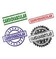 grunge textured cardiovascular stamp seals vector image