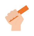 hand human with rule school vector image