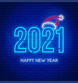 happy new year 2021 neon lettering vector image vector image