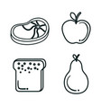 healthy eating design vector image