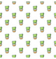 heart cactus pattern seamless vector image vector image