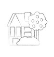 house fruit tree residence property real estate vector image