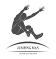 Jump Man long vector image
