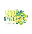 lemonade logo original design colorful hand drawn vector image vector image