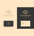 luxury logo monogram crest template design vector image vector image