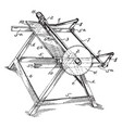 machine saw vintage vector image vector image