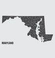 maryland county map vector image vector image