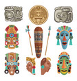 mayan antique symbols and pictures vector image vector image