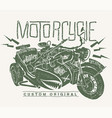 military motorcycle whit sidecar hand drawn vector image vector image
