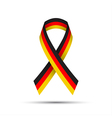 Modern colored ribbon with the German tricolor vector image vector image