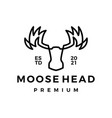 moose head monoline line art logo icon vector image