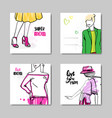 mothers day greeting cards set with hand drawn vector image vector image