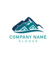 mountain real estate logo vector image