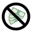 no bribery symbol vector image vector image