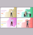 online business businessman discussing project vector image vector image