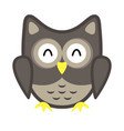 owl stylized icon nature colors vector image vector image
