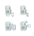 Payments method icons vector image