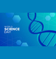 science day abstract background with blue dna vector image