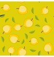 Seamless pattern with cartoon apples Fruits vector image vector image
