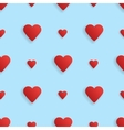 seamless realistic pattern hearts vector image vector image