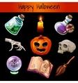 set fixtures for magic halloween vector image vector image