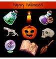 Set of fixtures for the magic Halloween vector image vector image