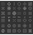 Set of geometric hipster shapes46 vector image vector image