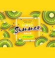 slice of kiwi top view kiwi super summer sale vector image