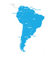 south america region map of countries in southern vector image vector image