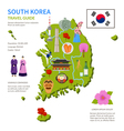 South Korea Travel Guide Infographic Poster vector image vector image