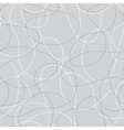 Stitched curves grey seamless pattern vector image vector image