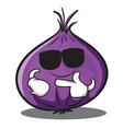 super cool red onion character cartoon vector image vector image