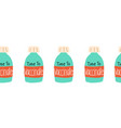 vaccine bottles seamless border repeating vector image