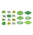 vegan logos and icons set 2 vector image