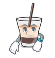 waiting white russian mascot cartoon vector image
