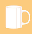 white mug flat style front vector image vector image