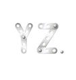 Y and Z vector image vector image