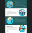 strategy successful team cards vector image