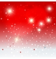 Snowflakes with stars background vector image
