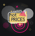Advertising hot price with geometric icon