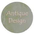 antique colors design vector image vector image