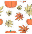 autumn gift seamless pattern color vector image