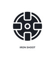black iron shoot isolated icon simple element vector image vector image