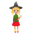 blondhair witch vector image