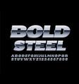 bold steel 3d font metal alphabet letters vector image vector image