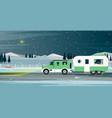 caravan family vector image