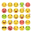 Cartoon Smile Icons Set vector image vector image