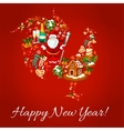 Chinese New Year rooster shape vector image vector image