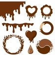 Chocolate decorative elements vector image vector image