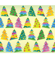 Christmas tree wrapping seamless tracery vector image vector image